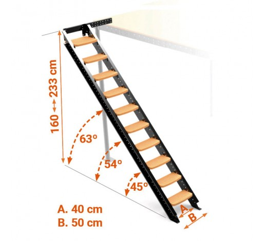 Lateral stairs